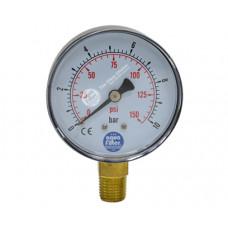 """Nyomásmérő óra 0-10bar, 1/4"""" (KCGA-1)"""