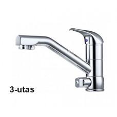 Konyhai csaptelep víztisztítóhoz, 3-utas, Klasszik dizájn, KRÓM[FC207-3C]